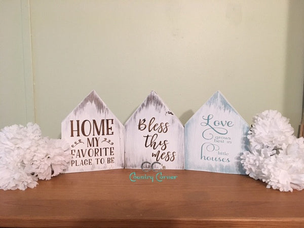 House Shaped Signs