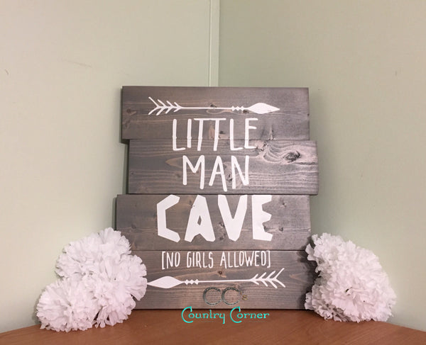 Little Man Cave Pallet Style Wood Sign