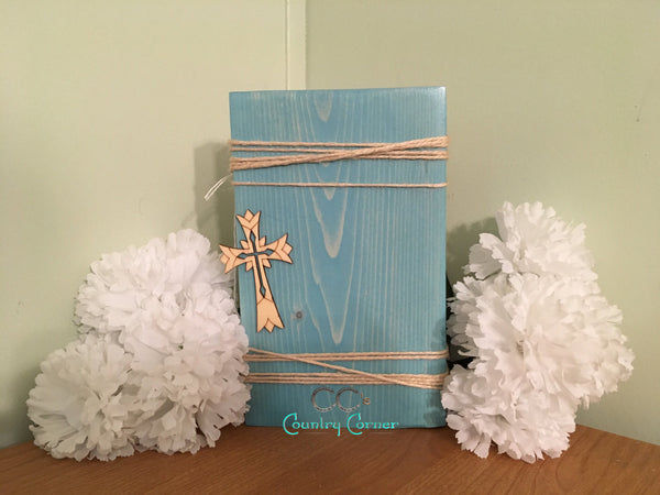 Wood Photo Block | Aqua Stain