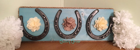 Horseshoe Jewelry Holder | Turquoise | Key Holder | Organizer