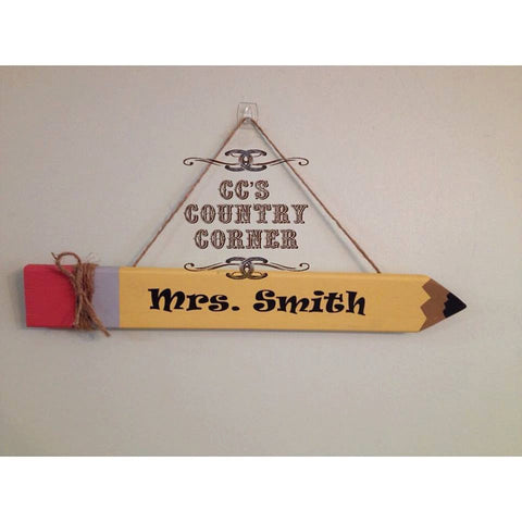 Teacher Appreciation Gift | Pencil Door Sign
