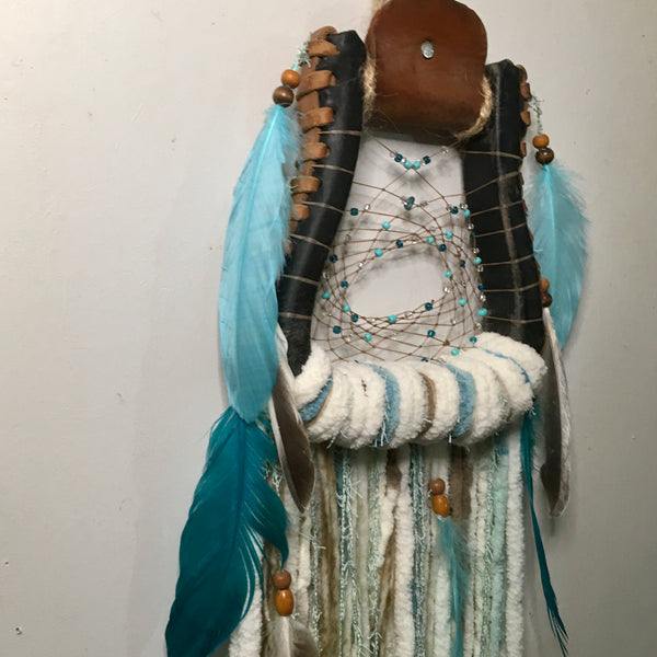 Western Stirrup Boho Dreamcatcher | Turquoise and Mint