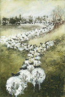 Original Art 'Ewes A Long Way From Home' - Acrylic