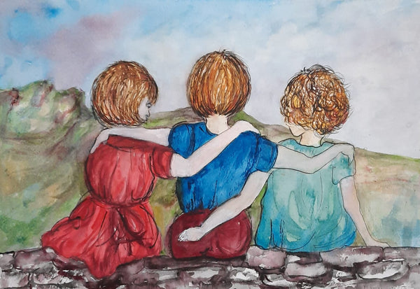 Lets Cwtch - Watercolour