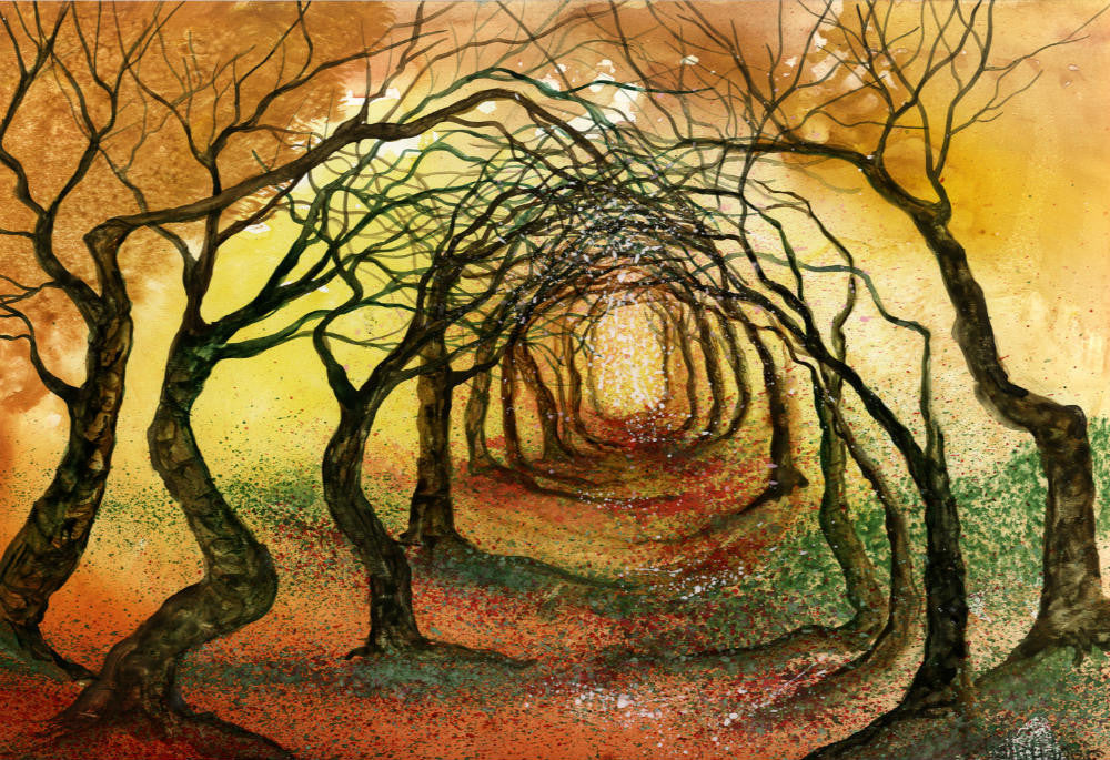 Yew Avenue (Original Watercolour)