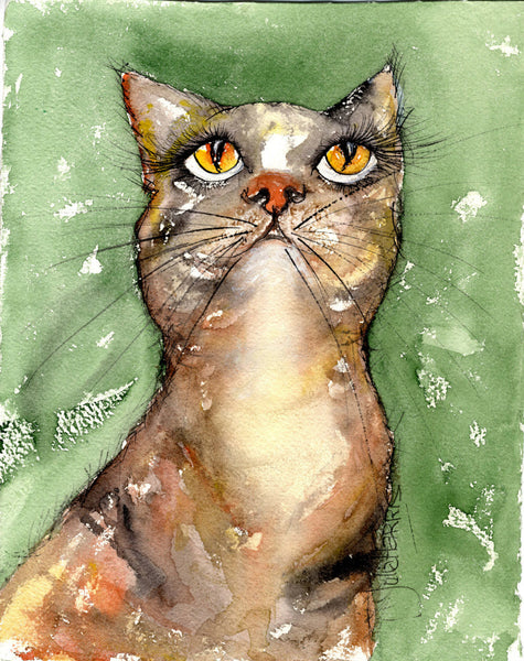 Purrrfect !! (Original Watercolour)