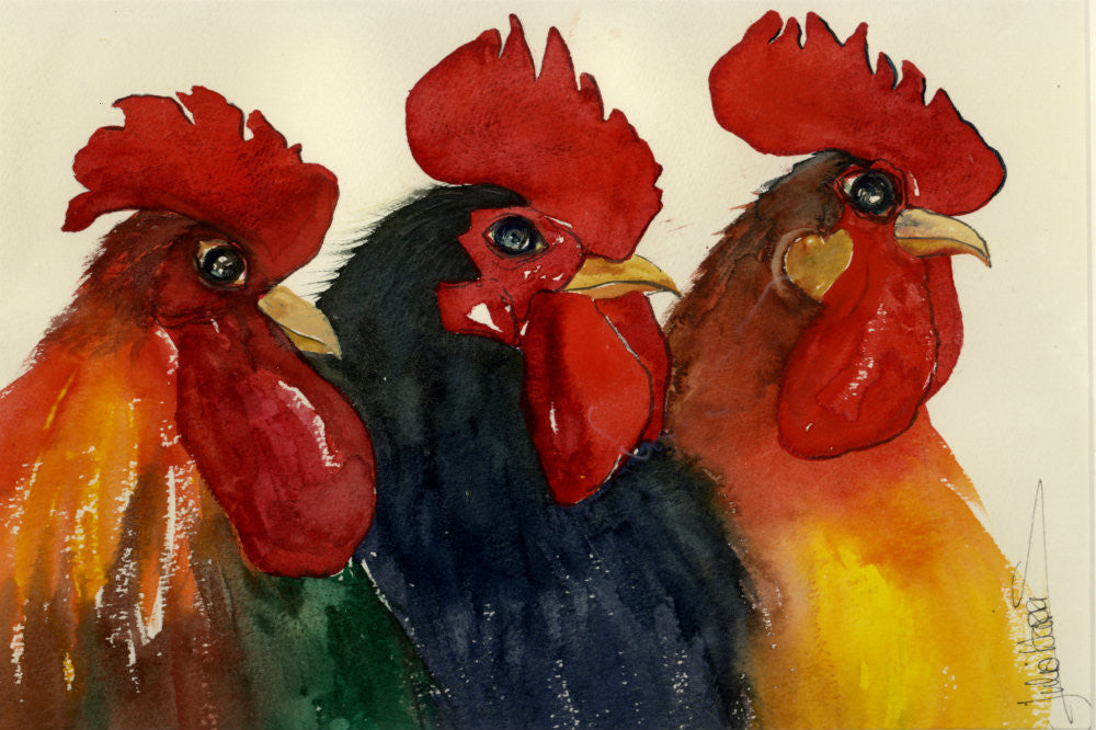 We Three Cocks