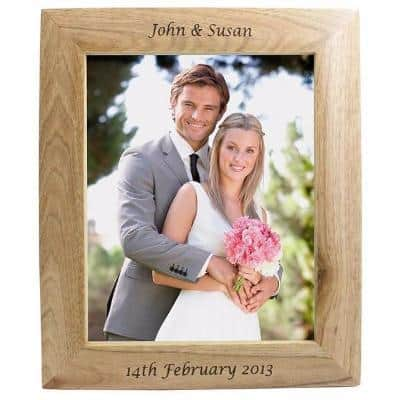 10 x 8 wooden photo frame
