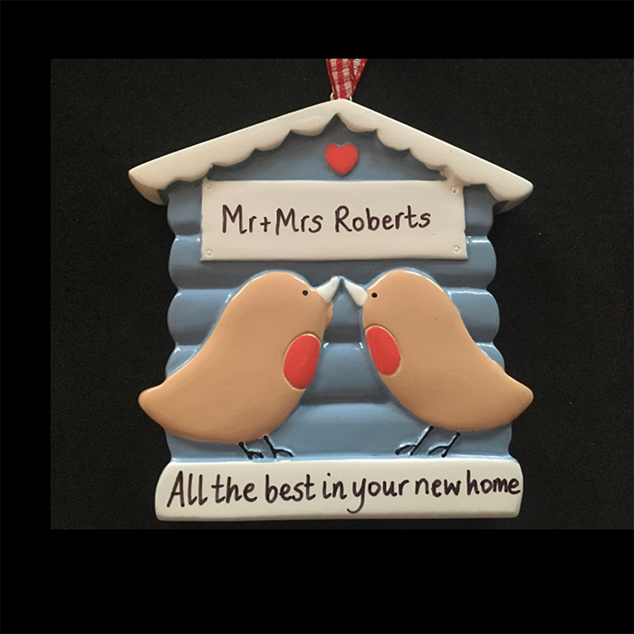 Two Birds Kissing Personalised Decoration