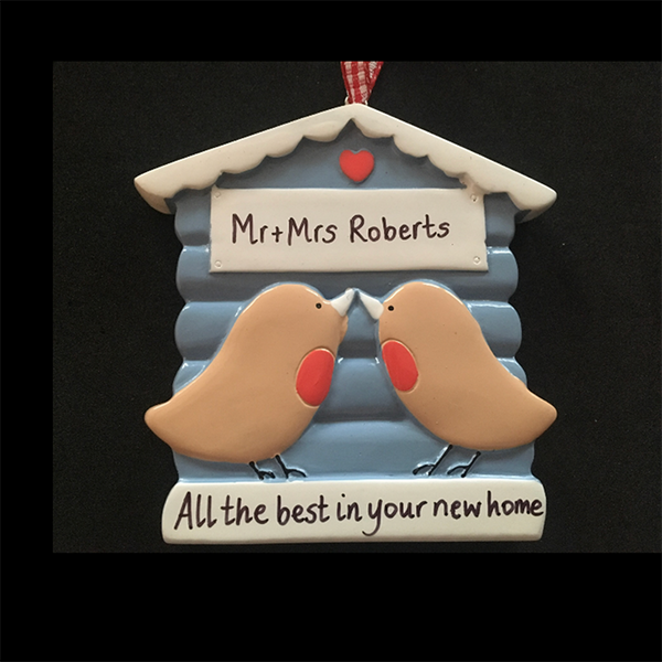 Two Birds Kissing Personalised Decoration - CalEli Gifts