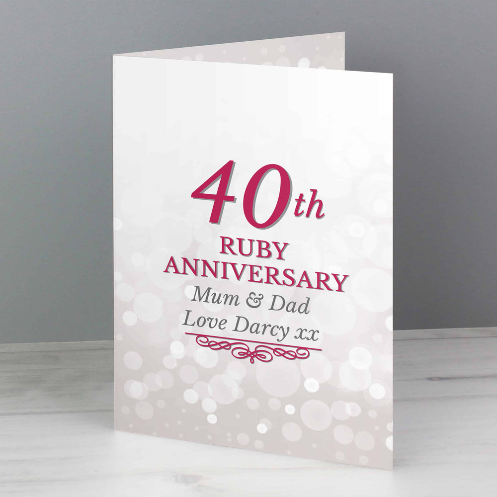 Ruby Anniversary Card