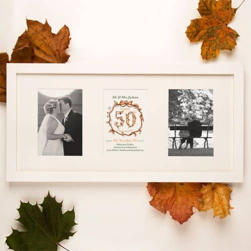 50th Anniversary Keepsake Frame