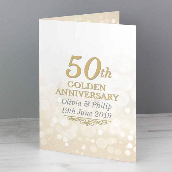personalised 50th wedding anniversary card