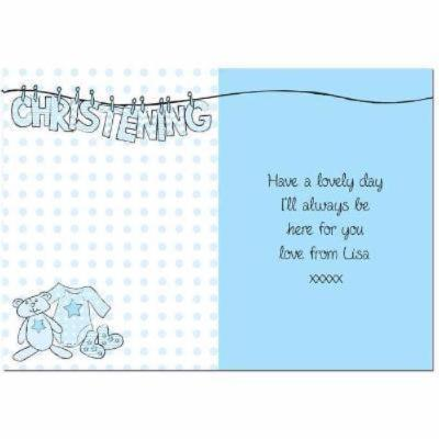 Personalised Christening Card - CalEli Gifts