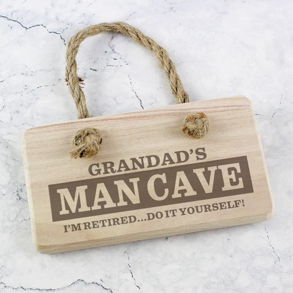 Man Cave Wooden Sign - CalEli Gifts