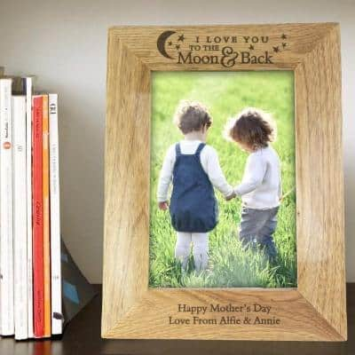 To the Moon and Back wooden frame