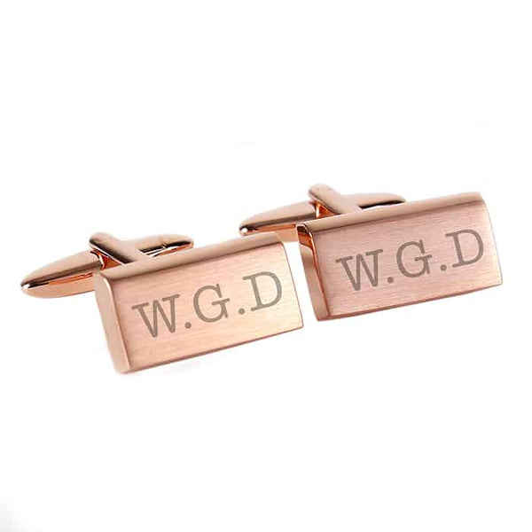 Classic Rose Gold Plated Cufflinks - CalEli Gifts