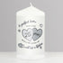 Silver Wedding Anniversary Candle - CalEli Gifts