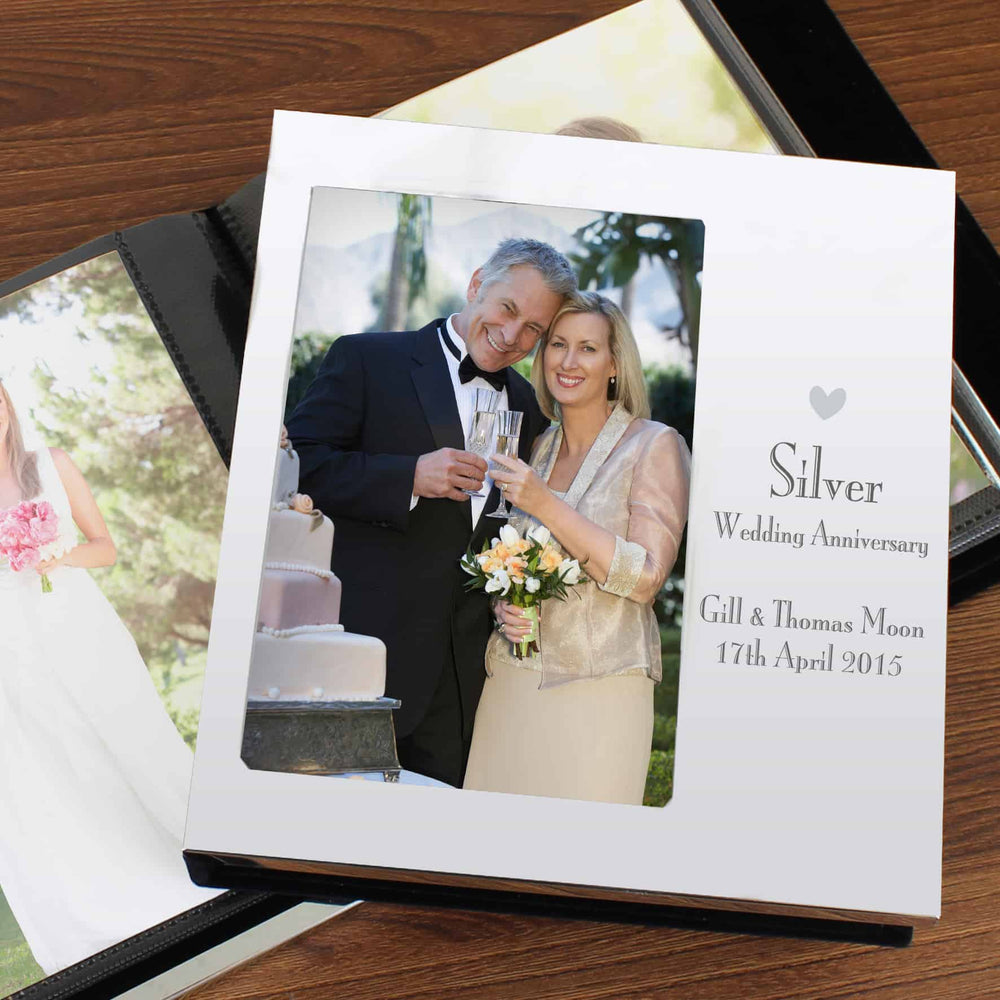 Silver Wedding Anniversary Photo Frame Album