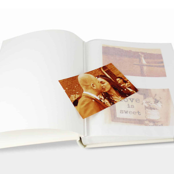 50th wedding anniversary personalised photo album. gold writing on the front and can be personalised over 2 lines.