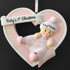 First Christmas Baby Girl Heart - CalEli Gifts