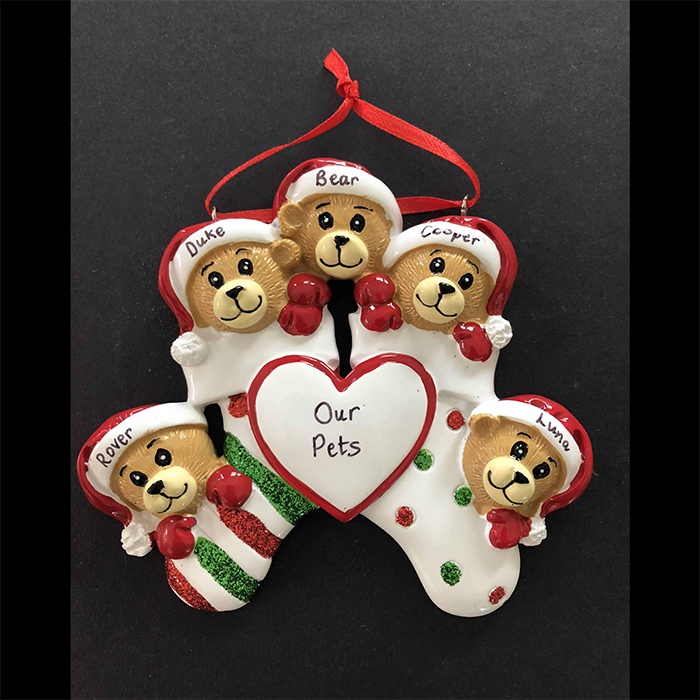 Bears in Stocking Tree Decoration