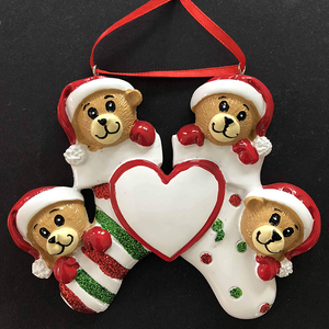 Bears in Stocking Tree Decoration - CalEli Gifts