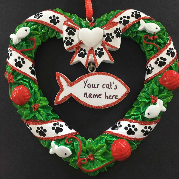 Cat Wreath Tree Decoration - CalEli Gifts