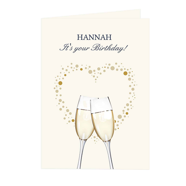 Champagne Flutes Cards - CalEli Gifts