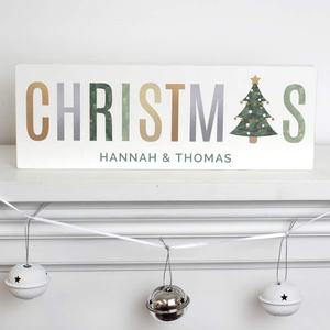 Christmas Wooden Block Sign - CalEli Gifts