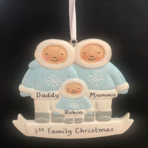 personalised christmas family tree decoration