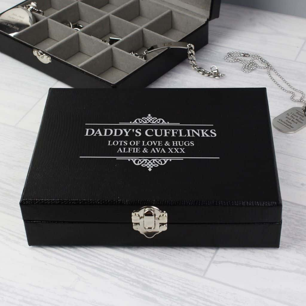 personalised cufflink box