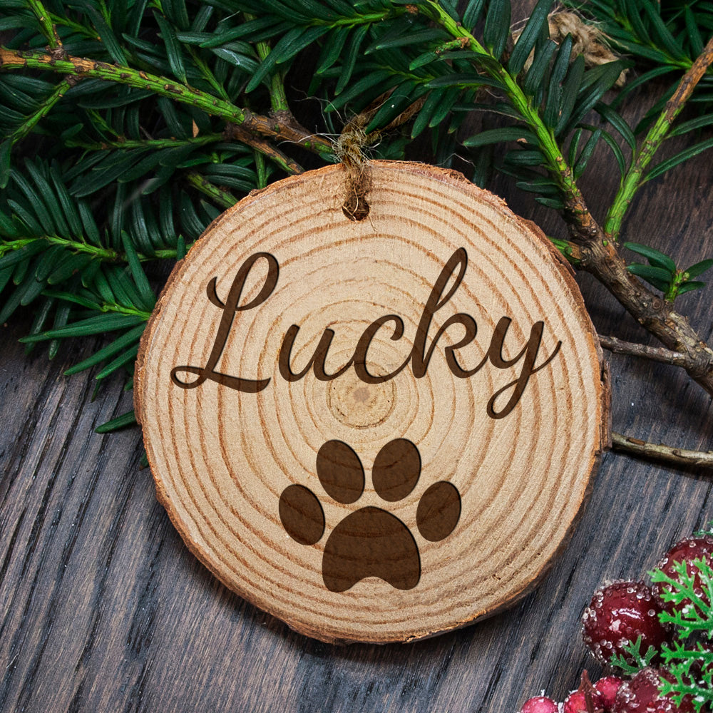 Dog Pawprint Decoration - CalEli Gifts