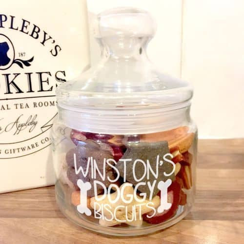 Doggy Biscuit Treat Jar