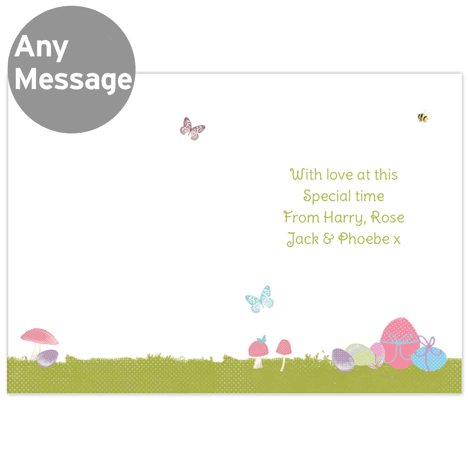 Personalised Easter Bunny Card from Edinburgh Gift Company CalEli Gifts