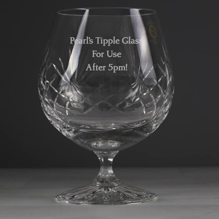 Engraved Brandy Glass - CalEli Gifts