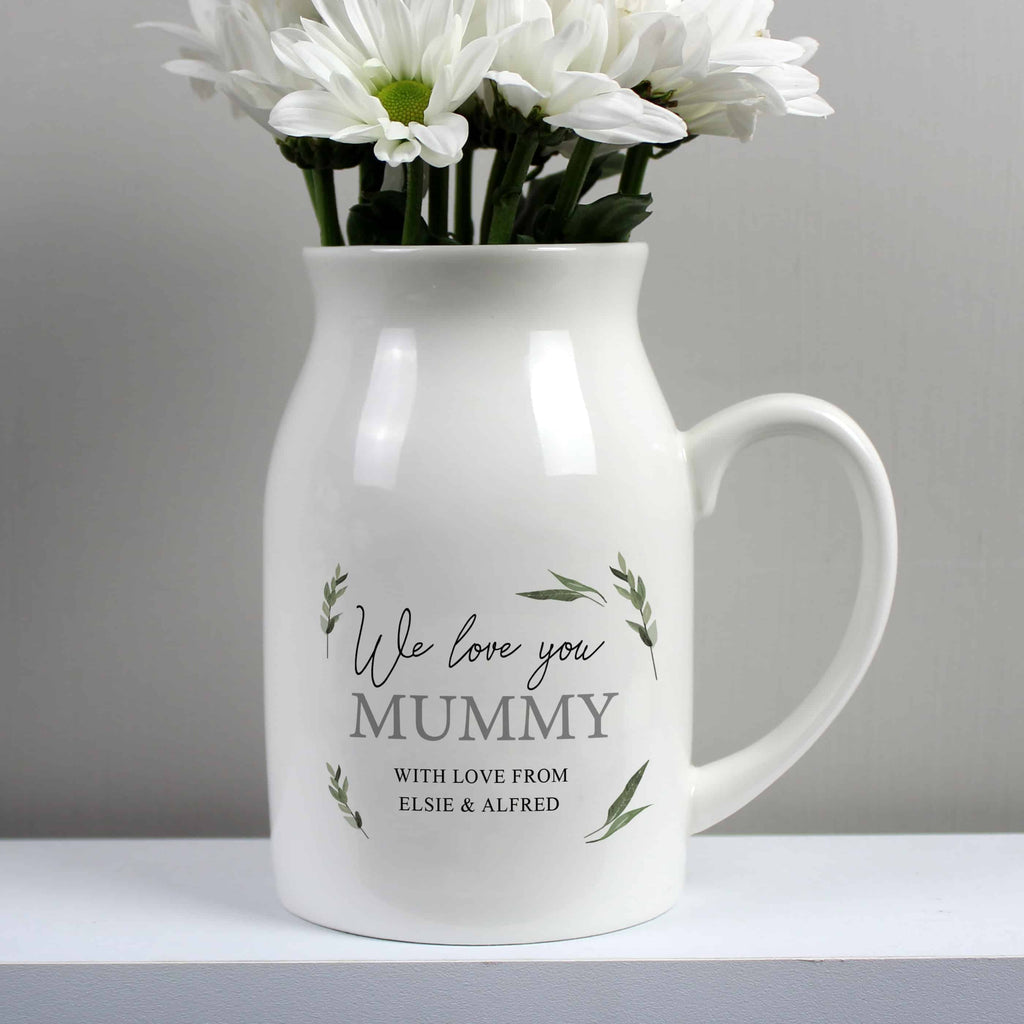 personalised ceramic flower jug