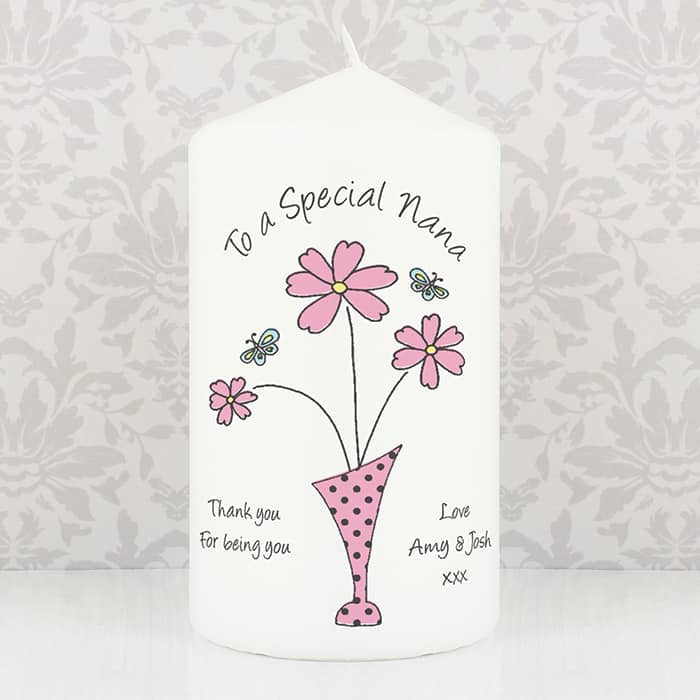 Flowers in Vase Design Candle