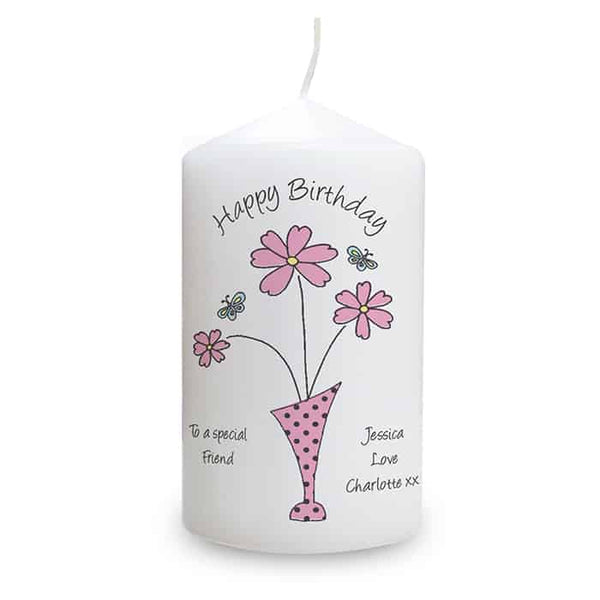 Flowers in Vase Design Candle - CalEli Gifts