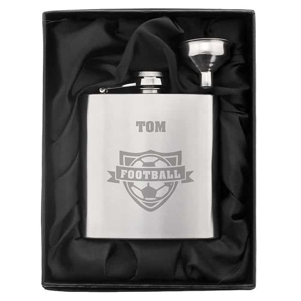 Football Hip Flask - CalEli Gifts