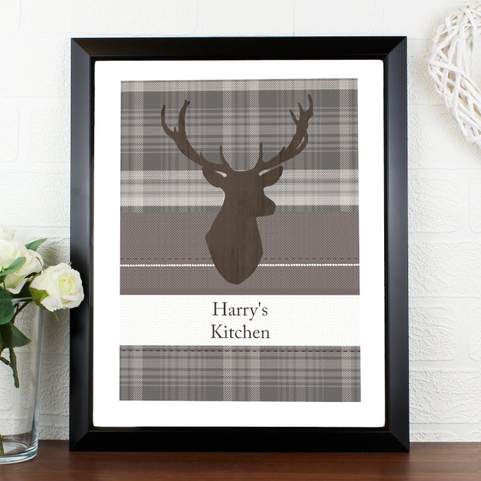 Highland Stag Framed Poster