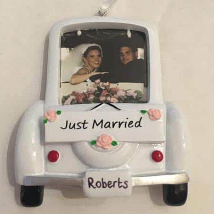 Just Married Photo Decoration