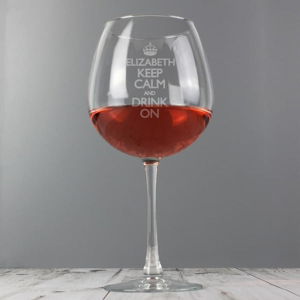 Keep Calm Wine Glass - CalEli Gifts