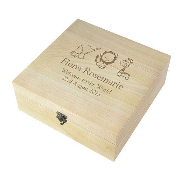 Large Wooden Keepsake Box - CalEli Gifts