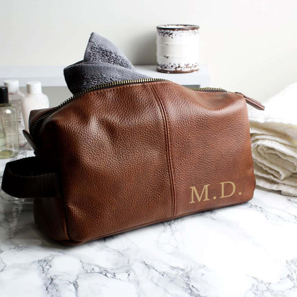 personalised luxury wash bag