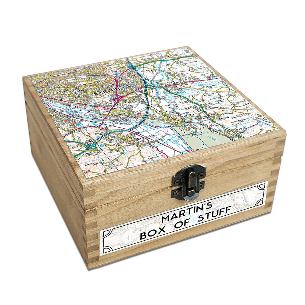 Map Keepsake Box