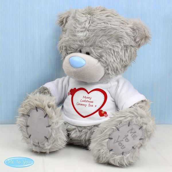 Me To You Teddy Bear. Personalised with any message over 3 lines in the centre of the white t-shirt. A great gift for any occasion - Valentine's Day, Birthday, Anniversary, Wedding etc