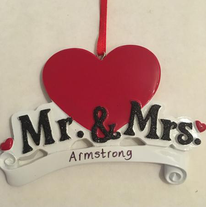 Mr and Mrs Hanging Decoration - CalEli Gifts