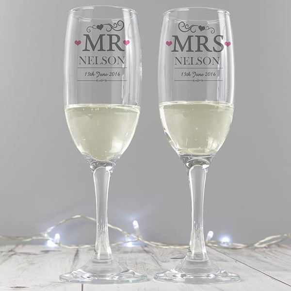 Mr & Mrs Flutes - CalEli Gifts