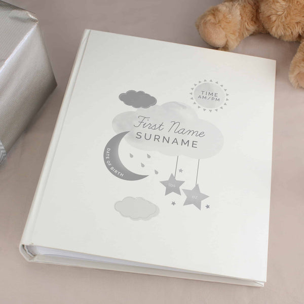 personalised new baby photo album from Edinburgh gift company CalEli Gifts